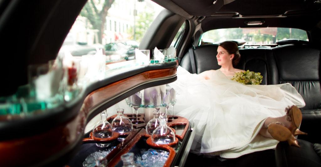 Wayland Ma wedding limo